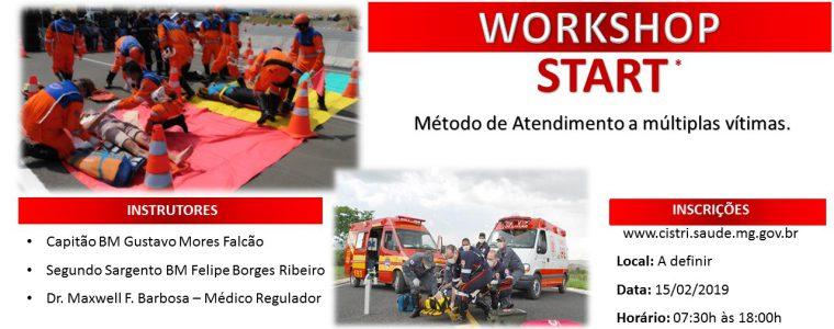 Inscrição para o Workshop de gerenciamento e atendimento a ocorrências com múltiplas vítimas.