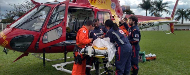 Primeiro resgate aéreo do SAMU Triângulo Norte