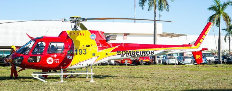 Profissionais do SAMU realizam curso de Atendimento e Transporte Aeromédico na Aeronave Arcanjo do Batalhão de Operações Aéreas (BOA)
