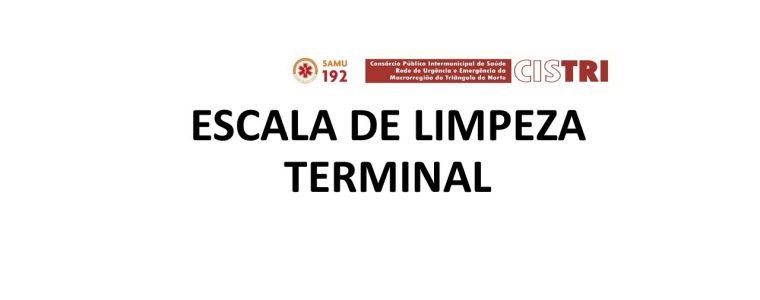 Escala de Limpeza Terminal – Janeiro