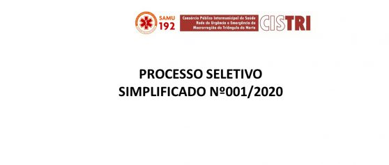 3ª Convocação vagas ociosas – Edital 001/2020